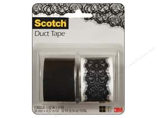 Glues, Adhesives & Tapes Scotch Tape: Scotch Tape Duct Lace/Black 2pc