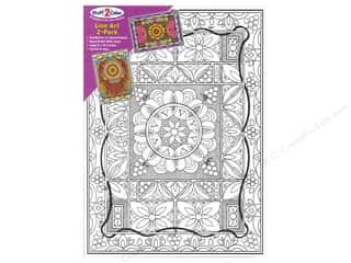 "Stuff2Color Line Art Poster 12""x 16"" Trellis/Dream 2pc"