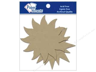 Holiday Sale Paper Accents Chipboard Shapes: Paper Accents Chipboard Shape Starburst 8 pc. Kraft