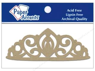 Chipboard Paper Die Cuts / Paper Shapes: Paper Accents Chipboard Shape Tiara 8 pc. Kraft