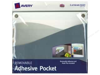 Avery Dennison Grey: Avery Removable Wall Pocket 10 x 12 1/4 in. Blue Green
