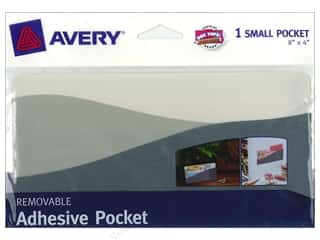 Avery Removable Wall Pocket 8 x 4 in. Blue Green