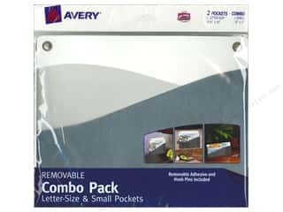 Avery Adhesive Pocket Wall Combo Ltr/Sm Eclectic