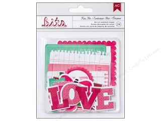 American Crafts Embellishment Bits Die Cut XOXO Kiss Me 24pc