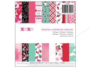 American Crafts Paper Pad 6&quot;x 6&quot; XOXO