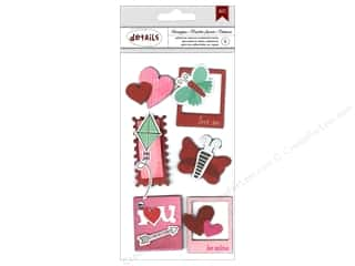 American Crafts Sticker Details XOXO 3D Honeybun