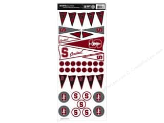 Sports Stickers: Sports Solution Sticker Pennant Stanford