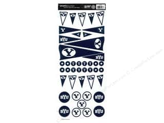 Sport Solution Blue: Sports Solution Sticker Pennant BYU