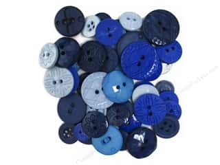 button: Jesse James Embellishments Color Me Blue