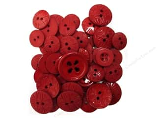 button: Jesse James Embellishments Color Me Red