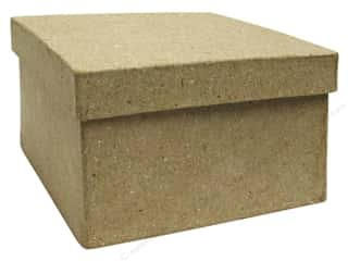 Paper Mache Square Box Mini Kraft by Craft Pedlars