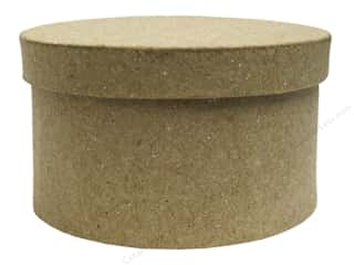 Paper Mache Round Box Mini Kraft by Craft Pedlars