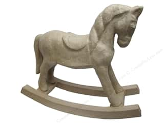 Paper Mache Rocking Horse Kraft by Craft Pedlars