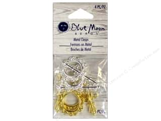 Blue Moon Beads $4 - $5: Blue Moon Bead Toggle Clasps 4 pc. Silver & Gold
