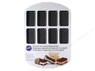 Baking Pans / Baking Sheets: Wilton Ice Cream Sandwich Pan 12-Cavity
