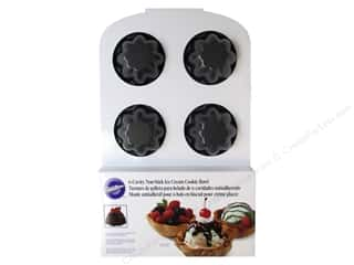 Non-Sticking Sheets inches: Wilton Ice Cream Cookie Bowl Pan 6-Cavity