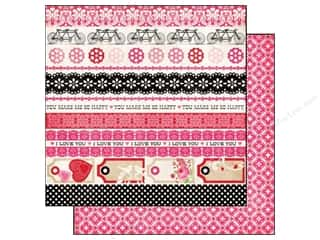 Echo Park Paper Company Valentine's Day: Echo Park 12 x 12 in. Paper Love Story Collection Border Strips (25 pieces)