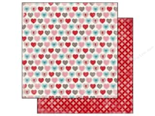 Carta Bella 12 x 12 in. Paper Devoted Heart (25 piece)