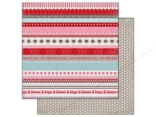 Carta Bella Paper 12x12 Devoted Hugs &amp; Kiss Border (25 piece)