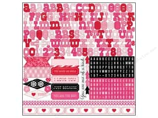 "Echo Park Paper Company Valentine's Day: Echo Park Sticker 12""x 12"" Love Story Alphabet (15 sets)"
