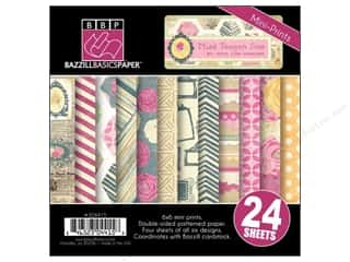 "Weekly Specials Card Making: Bazzill Multi Pack 6""x 6"" Teagen 24pc"
