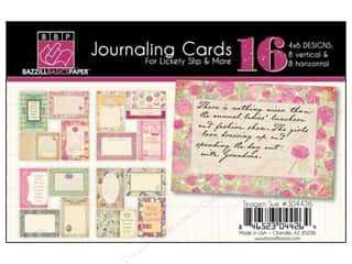 Clearance Bazzill Lickety Slip Journaling Cards: Bazzill Journaling Cards 4 x 6 in. Miss Teagen Sue 16 pc.