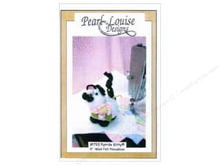 Felt Home Decor: Pearl Louise Designs Purrde Kitty Pincushion Pattern