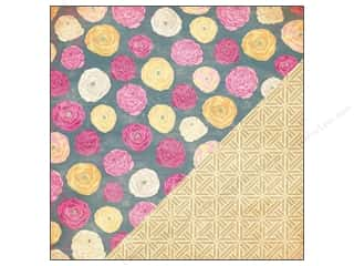 Bazzill 12 x 12 in. Paper Ranuculus/Basket Weave 25 pc.