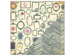Bazzill paper 12x12: Bazzill 12 x 12 in. Paper Miss Teagen Sue Gallery/Home Spun Chevron 25 pc.