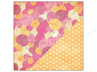 Bazzill cardstock 12x12: Bazzill 12 x 12 in. Paper Miss Teagen Sue Bouquet/Faded Yellow Polka Dots 25 pc.