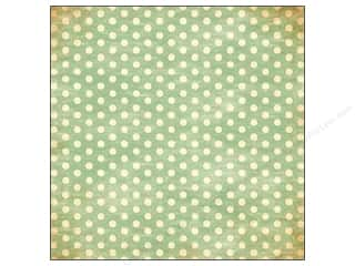 Bazzill 12 x 12 in. Paper Faded Green Polka Dots 25 pc.