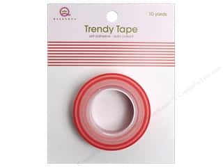 Queen&Co Trendy Tape 10yd Stripes Red