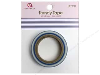 Queen&amp;Co Trendy Tape 10yd Stripes Blue