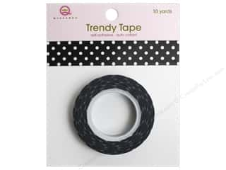 Queen&Co Trendy Tape 10yd Polka Dot Black