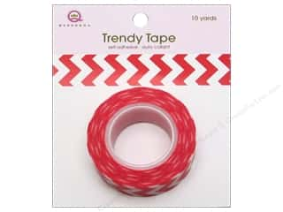 Queen & Co Trendy Tape: Queen&Co Trendy Tape 10yd Chevron Red