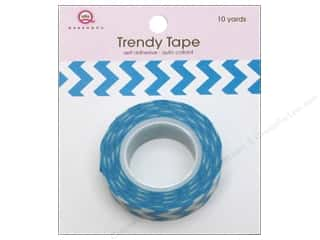 Queen&amp;Co Trendy Tape 10yd Chevron Blue
