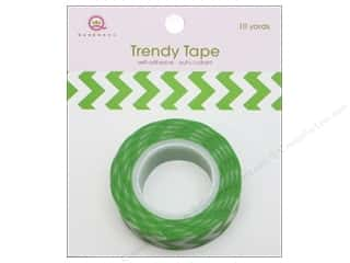 Queen&Co Trendy Tape 10yd Chevron Green