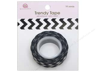 Queen&Co Trendy Tape 10yd Chevron Black