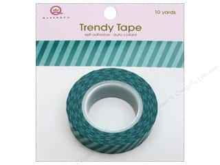 Queen&amp;Co Trendy Tape 10yd Vertical Stripes Teal