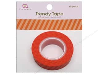 Queen&Co Trendy Tape 10yd Vertical Stripes Orange