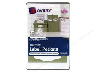 Avery Adhesive Pocket Label &amp; Insert 6pc