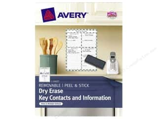 Avery Adhesive Decal Dry Erase 8.5x11 Contacts