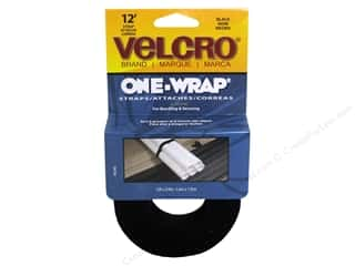 Velcro / Hook & Loop Tape Velcro Straps / Hook & Loop Tape Straps: Velcro One Wrap Strap 3/4 in. x 12 ft. Black