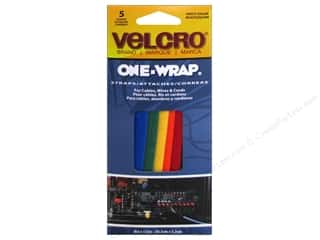"Velcro / Hook & Loop Tape 30"": Velcro One Wrap Straps 1/2 x 8 in. Assorted 5 pc."