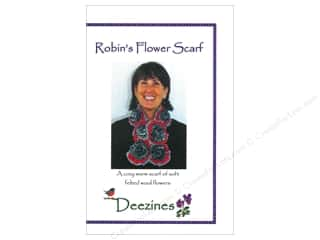 Warm and Natural: Robins Flower Scarf Pattern