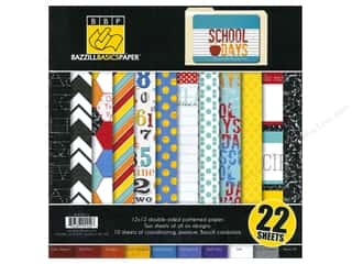 Bazzill Multi Pack 12&quot;x 12&quot; School Days 24pc