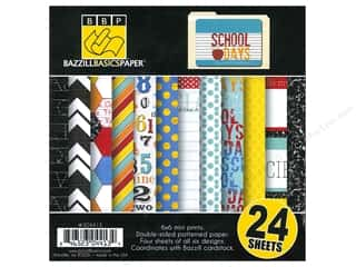 Bazzill monochromatic: Bazzill 6 x 6 in. Multi Pack School Days 24 pc.