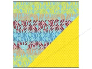 Back To School Scrapbooking & Paper Crafts: Bazzill 12 x 12 in. Paper School Days School Days/Geometric 25 pc.