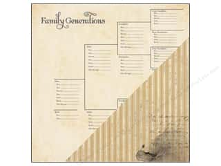 Generations Clearance Crafts: Bazzill 12x12 Paper Heritage Generation Chart 25 pc.