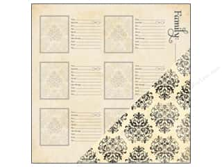 Bazzill Paper 12x12 Heritage More Family Name 25pc